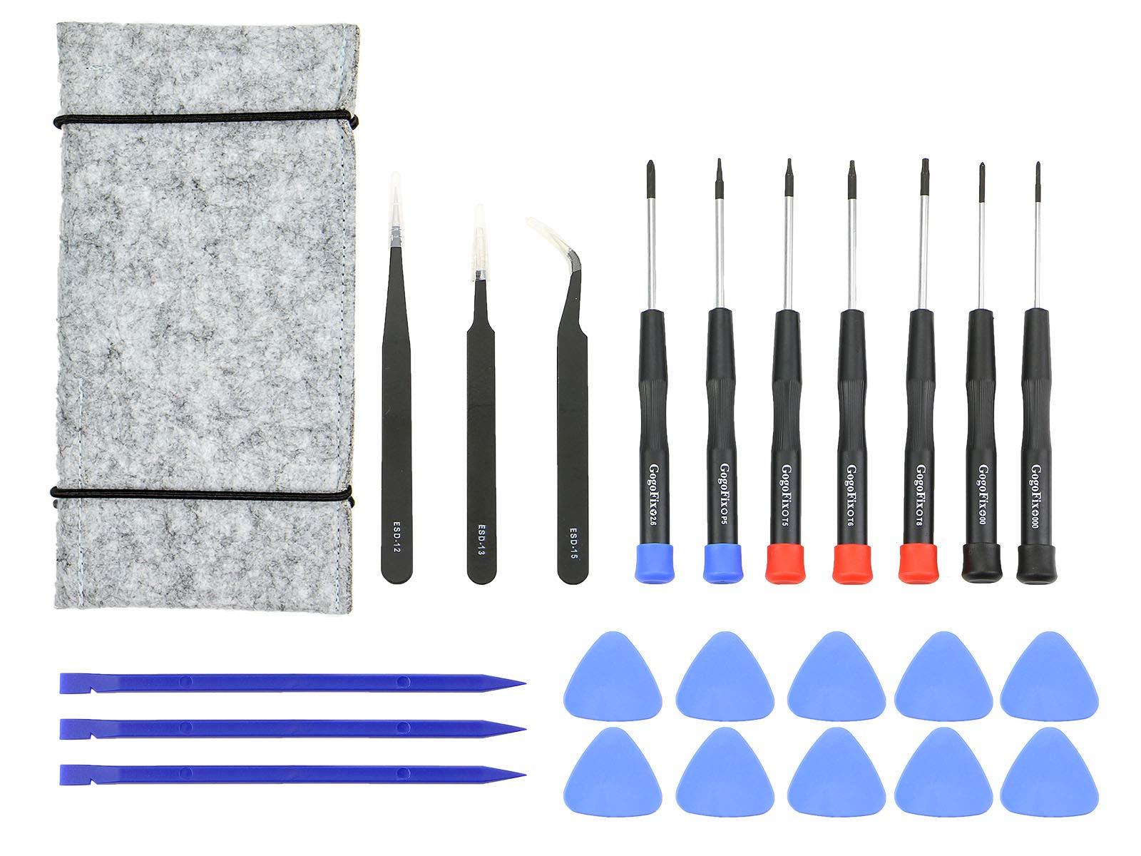 23 Pcs MacBook Repair Tool Kit, Precision Screwdrivers, Tweezer, Opening Pick, Spudger and Tool Bag for MacBook Air, Retina, Pro
