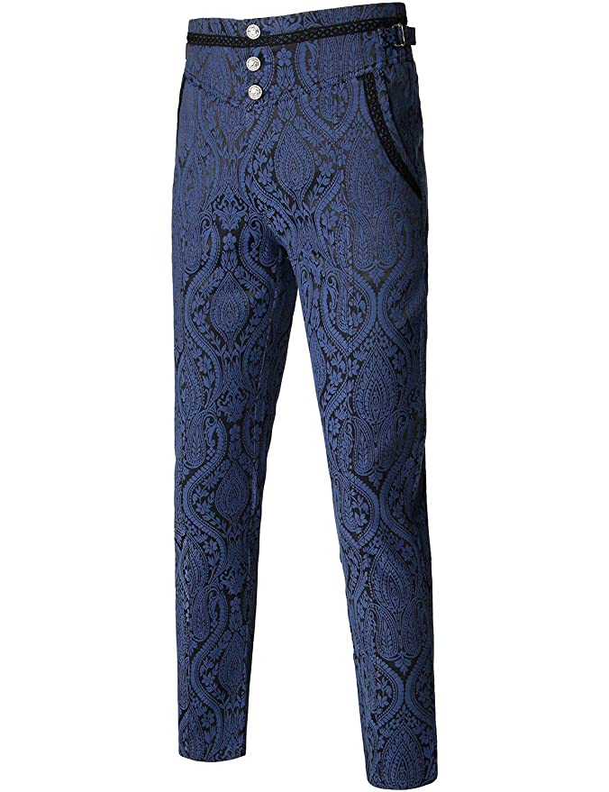 Men's Steampunk Clothing, Costumes, Fashion VATPAVE Mens Gothic Pants Cosplay Costume Trousers Steampunk Victorian Pants $39.99 AT vintagedancer.com