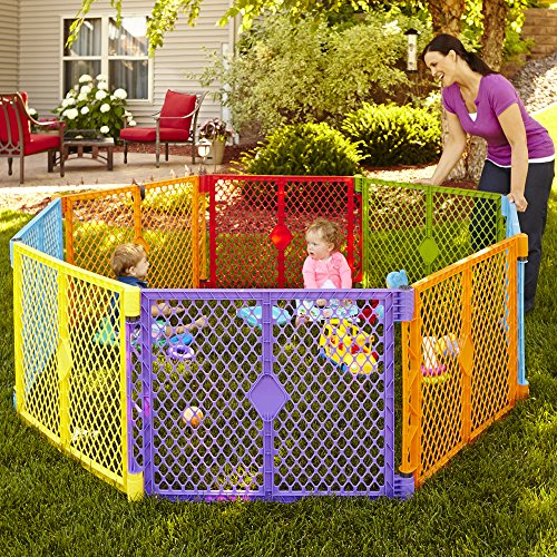 Large Product Image of North States Superyard Colorplay 8 Panel Playard