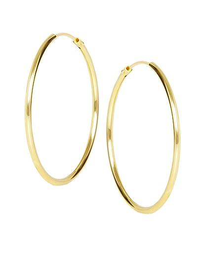 fa85e0e2476b4c MyGold Damen Creolen Ohrringe Gelbgold 585 Gold (14 Karat) Ohne Steine Ø  30mm Hochglanz