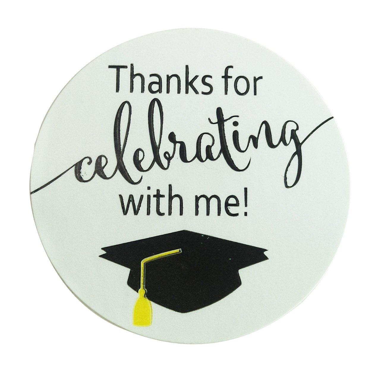 Top label 2'' Graduation Stickers - Graduation Favor Stickers Graduation Labels - 100 Pieces/Roll