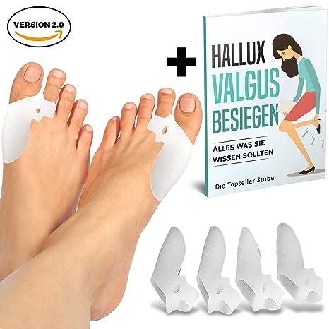 MAGICTOES® Verbesserte Hallux Valgus Zehenspreizer mit einstellbarer Zehenspreizwirkung   + Exklusiver Ratgeber + 100% Zufrie