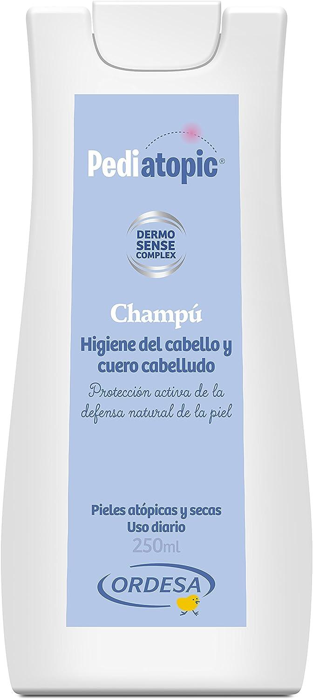 Pediatopic Champú 250ml , gel de higiene emoliente para el cuidado y protección del cabello y cuero cabelludo de las pieles atópicas y/o extremadamente secas.