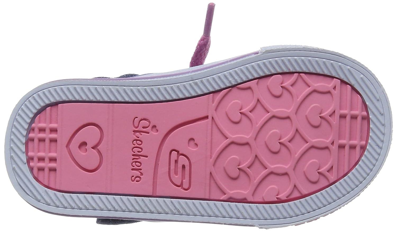Skechers Shuffles-Digity Dot, Entrenadores para Niñas, Azul (Denim/Multi), 26 EU