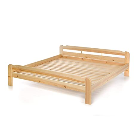 Acerto 20039 Doppelbett Mit Lattenrost Aus Kiefer Massiv 200x220 Cm Leichter Aufbau Robuste Bauweise Massives Holz Bett Bettgestell Optional Mit
