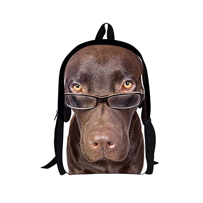 bab2bd3e3db4 Amazon.com | Durable Backpack, Funny Cute Cat Dog Personalized Print ...
