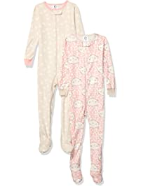 0af3b9f807 Gerber Baby Girls Organic 2 Pack Cotton Footed Unionsuit