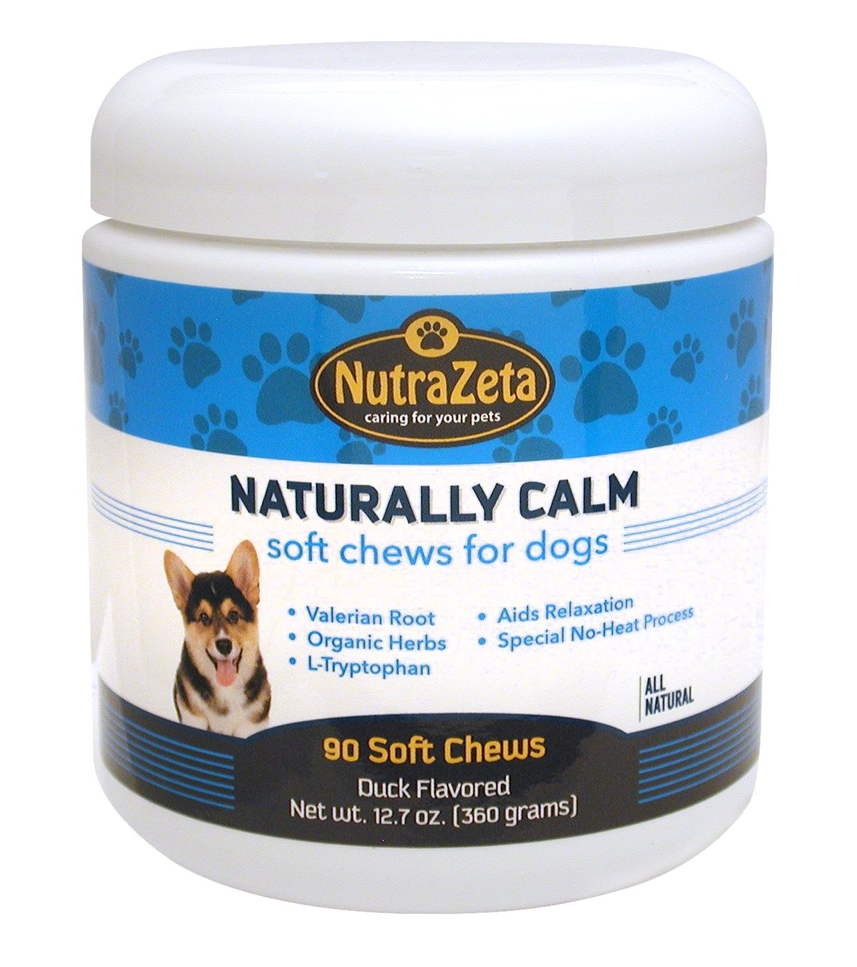 Natural Dog Anxiety Relief - 90 Soft Chews - Relax & Reduce Stress