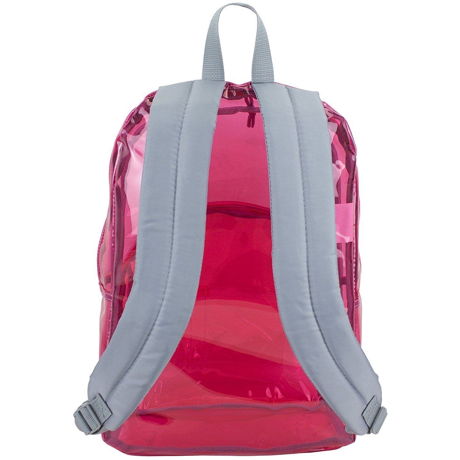 17'' Clear Pink Wholesale Backpack - Case of 24 by Eastsport (Image #4)