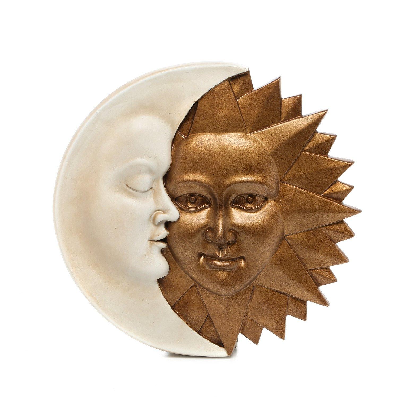 amazon com celestial harmony sun and moon wall sculpture in