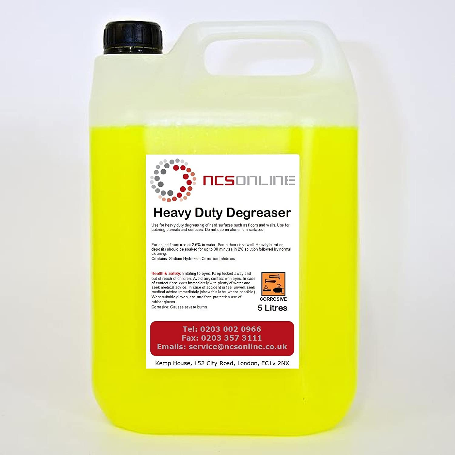 Heavy Duty Professional Degreaser 5L with FREE 750ml Spray Bottle Inc NCS