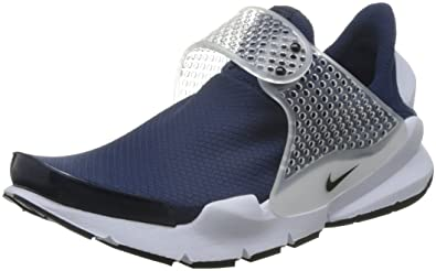 latest design on feet shots of entire collection Buy Nike Womens WMNS Sock Dart, Midnight Navy/Black-White, 7 US at ...