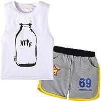 Nwada Conjunto Niño Verano Ropa Deportivo Camiseta y Pantalon Corto Pijama Chandal Disfraz 18 Meses a 7 Años