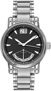 amazon com belair swiss made chronograph 20 atm men s black belair swiss made retrograde men s analog all stainless steel black dress watch