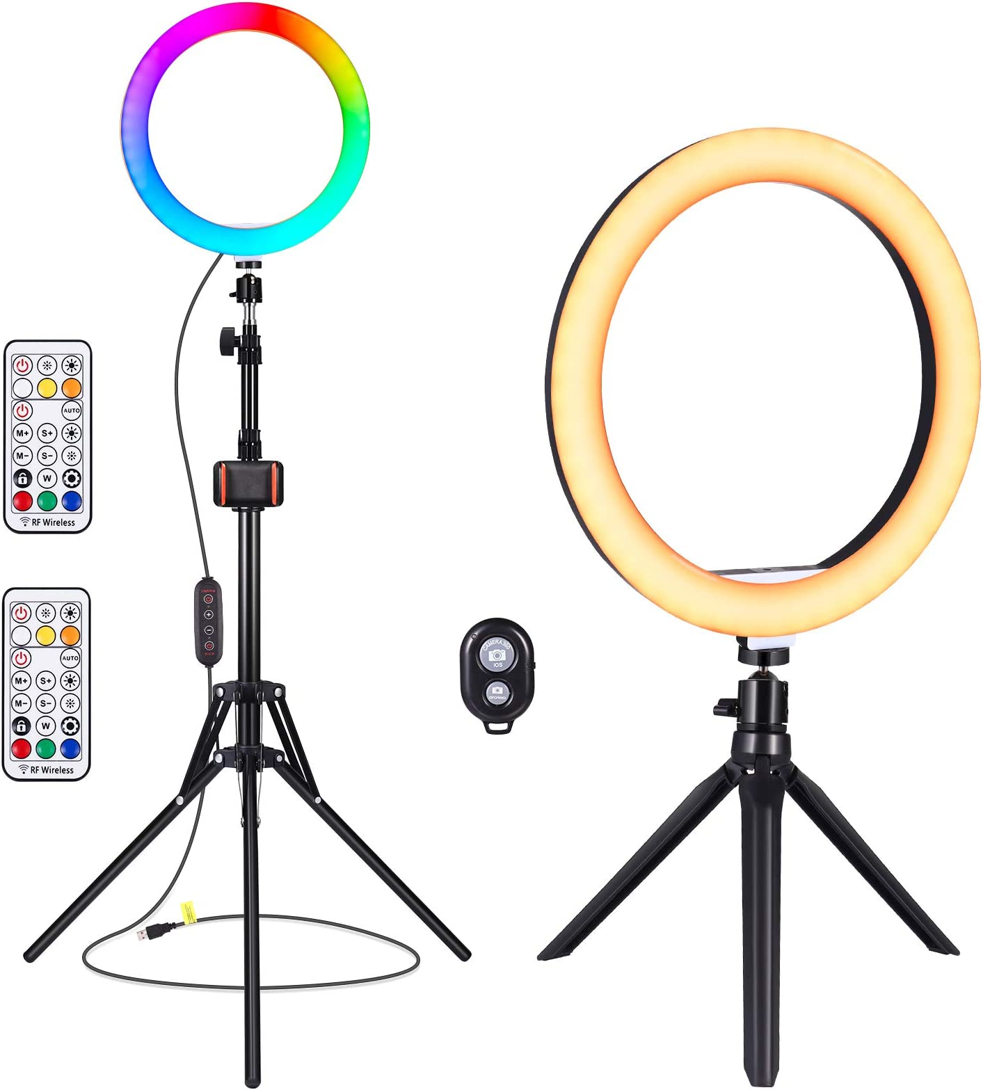 Deals on YUNLIGHTS 26 Colors RGB Ring Selfie Ring Light