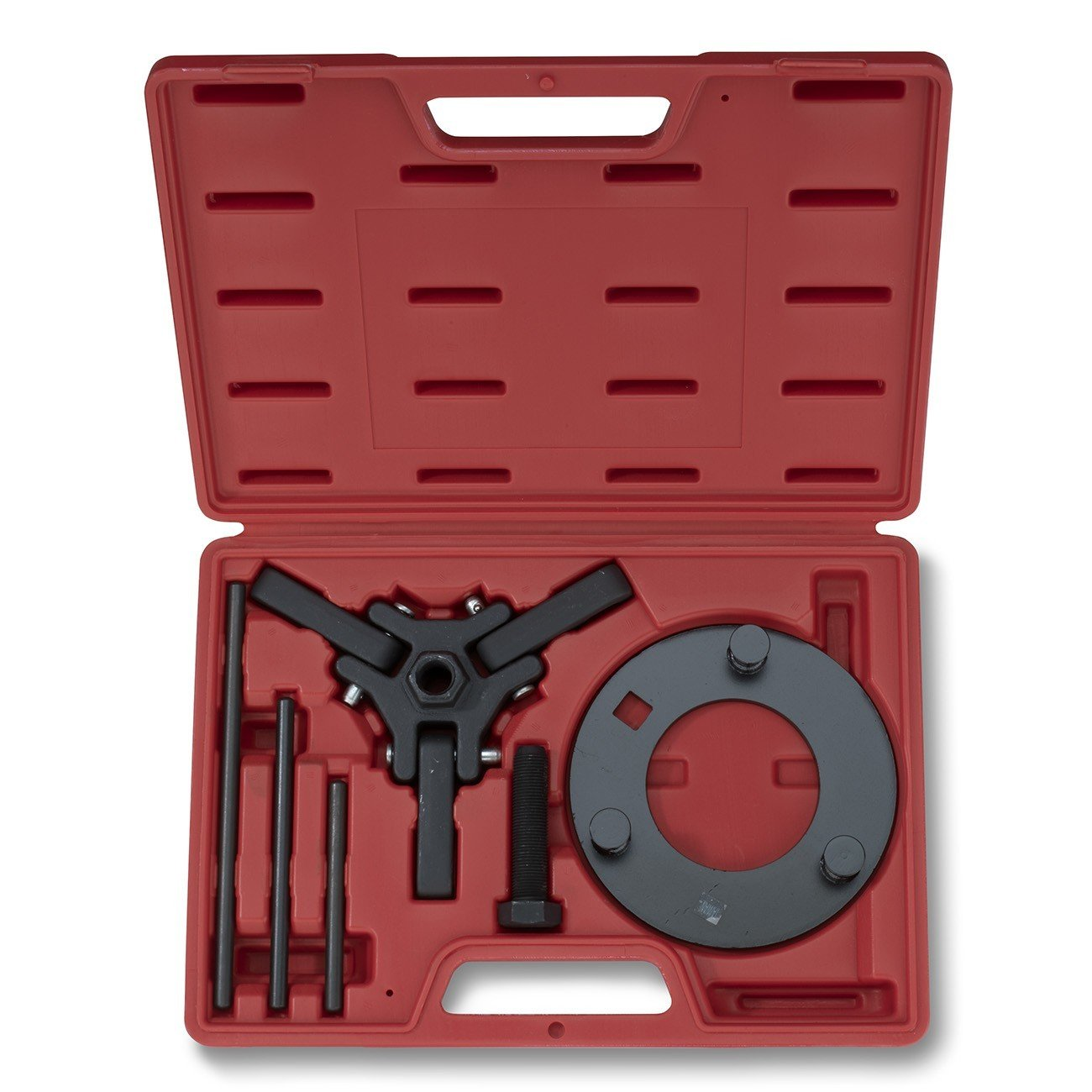 Neiko 20720A Automotive Harmonic Balancer Puller Tool Set | Includes 3-Jaw Puller and Holding Tools