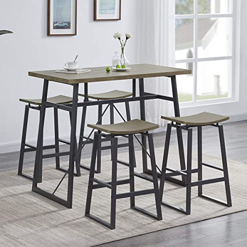 Homissue 5-Piece Pub Height Bar Table - a good cheap dining room set