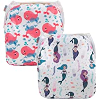 ALVABABY 2pcs Swim Diapers Reuseable Adjustable for Baby Gifts & Swimming Lessons YK65-66