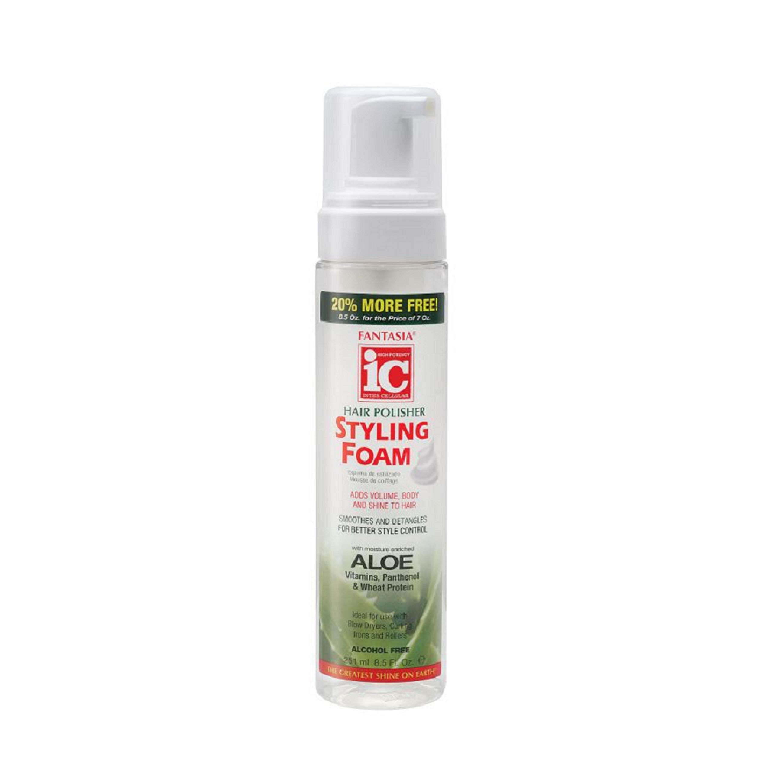 Fantasia Styling Foam 7 oz. + 1.5 oz. Free (3-Pack) with Free Nail File by Fantasia IC