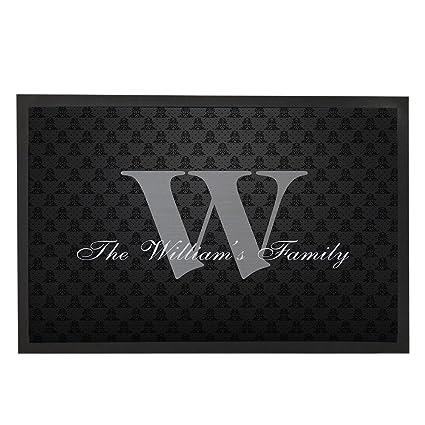 Amazon Black Family Doormat Gifts Welcome Outdoor Mats Custom
