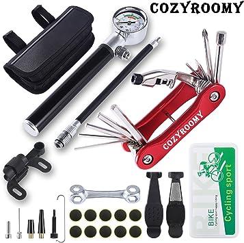 COZYROOMY Kit Herramientas Bicicleta,Reparación de pinchazos ...