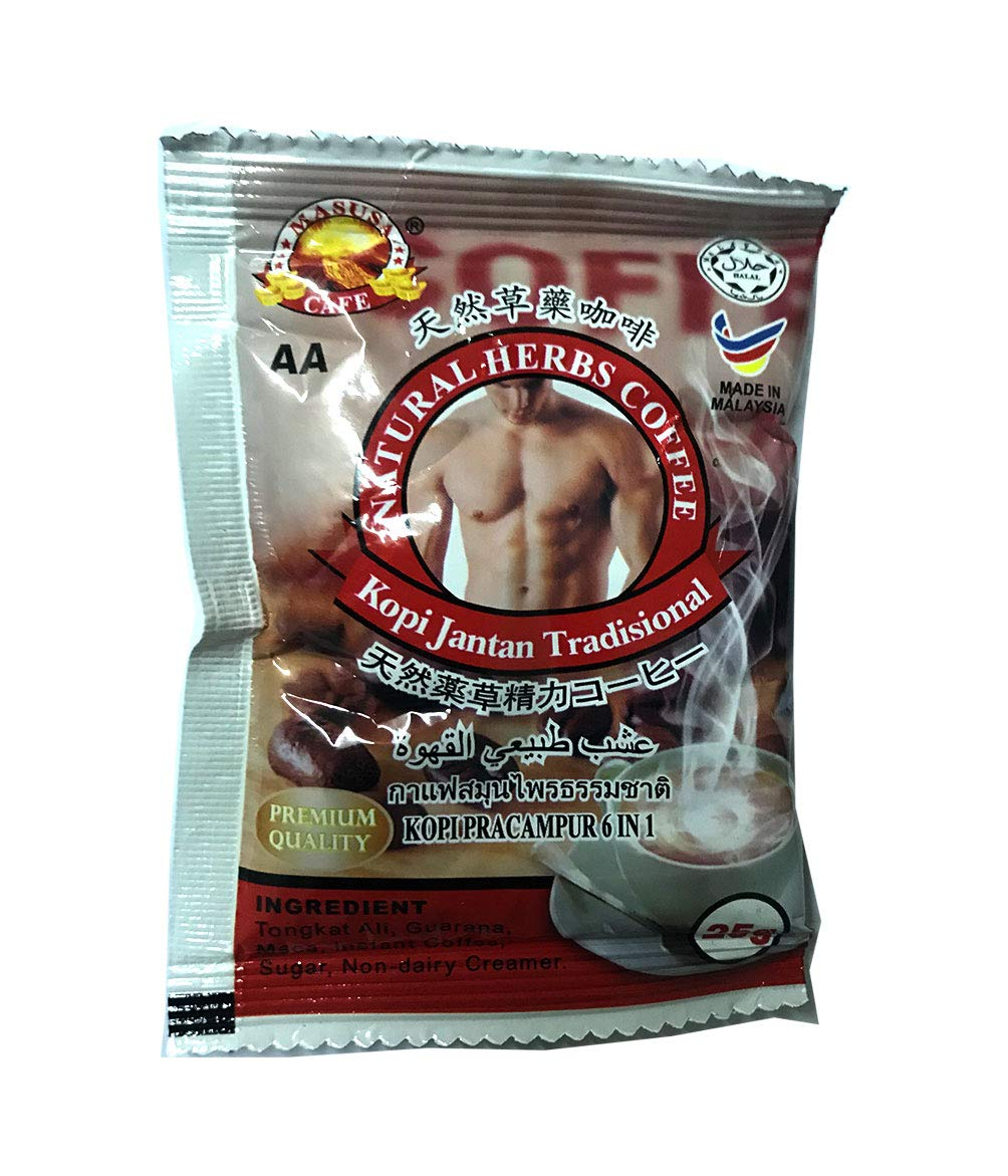 1pc Test Promotion Coffee Herbal Tongat Ali MACA Guarana Men Sexual Enhancer Improve Sex Drive Male Performance Longjack Eurycoma longifolia Testosterone Booster