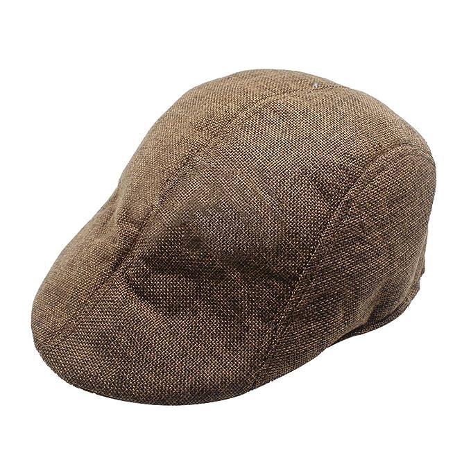 REFURBISHHOUSE Gorra para mujer hombre Boina de lino Sombrero Gorra Conduccion Golf Ornitorrinco Sombrero de boina