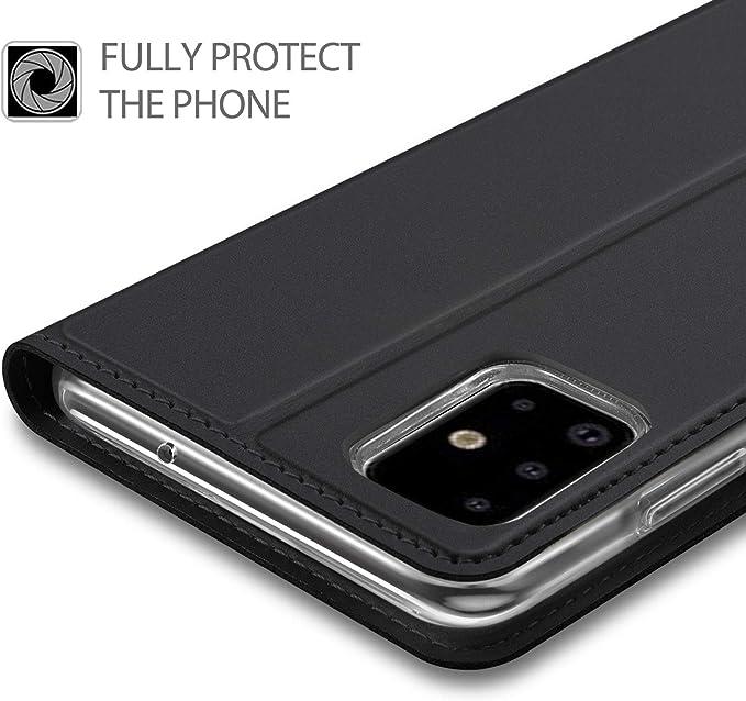 JAWSEU Kompatibel mit Samsung Galaxy A71 H/ülle,Samsung A71 Handy H/ülle Lederh/ülle Klapph/ülle,Marmor PU Leder Tasche Flip Case Brieftasche Handytasche Magnetisch Silikon Bumper Schutzh/ülle,Blau Blumen
