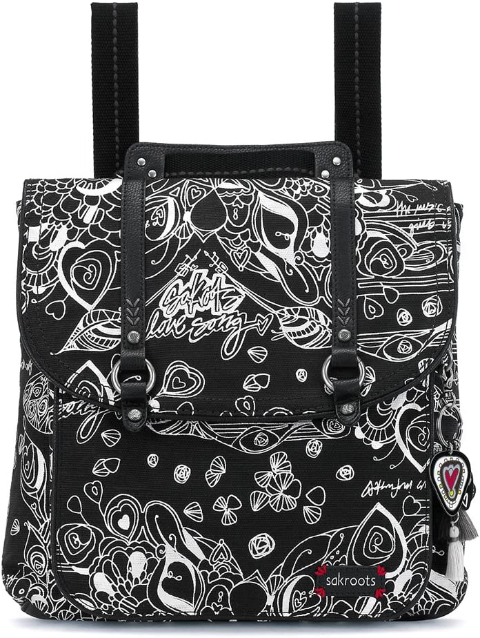 Sakroots Artist Circle Convertible Backpack (One Size, METALLIC SONGBIRD)