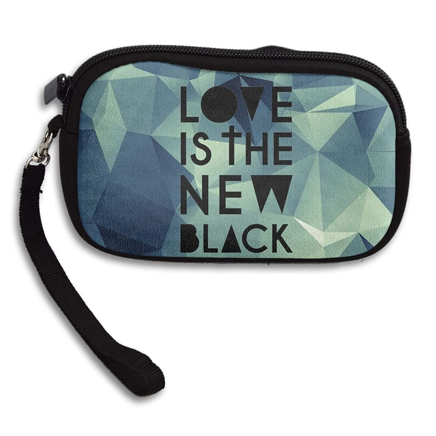 Love May be The New Black Womens Card Holder Mobile Phone Key Bag Simple Design