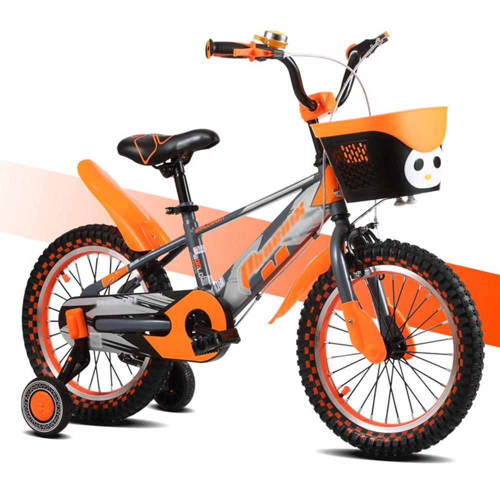 HAIZHEN マウンテンバイク 子供の自転車のサイズオプション12インチ14インチ16インチ18インチマルチカラーの選択 新生児 B07C6T3T1B 16 inches|オレンジ オレンジ 16 inches