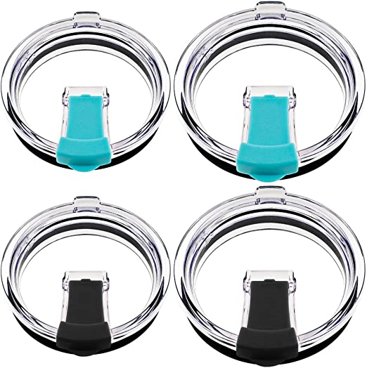 20//30 oz Splash Spill Proof Magnetic Slider Lid for Tumbler Cup Replacement NEW