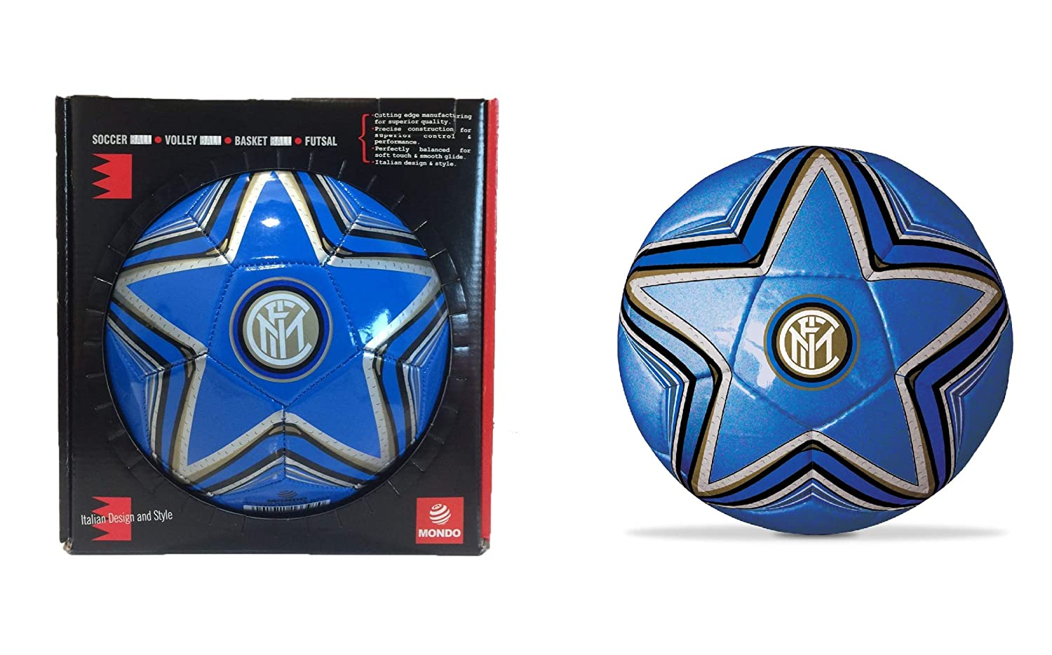 F.C. Inernazionale Milan FC Inter Leather Football in Gift Box ...