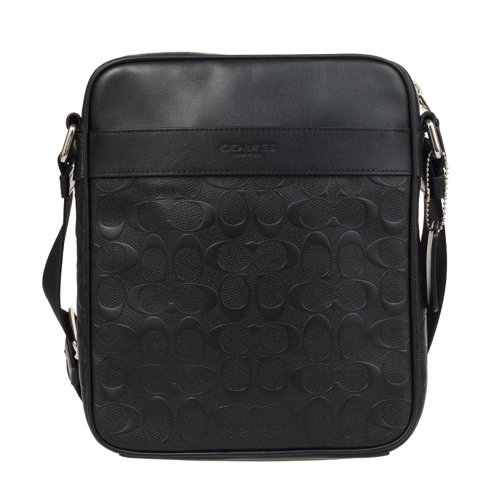 Amazon.com  Coach Flight Bag in Signature Crossgrain Leather NI Black  Shoes e3a401ae93465