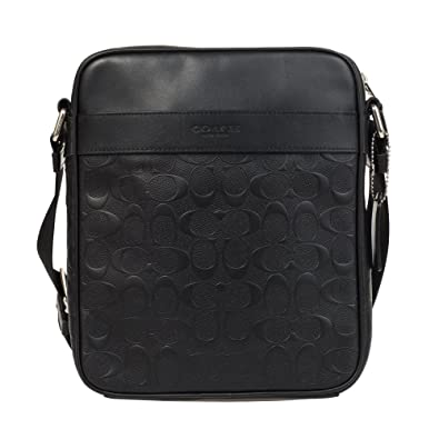 Amazon.com  Coach Flight Bag in Signature Crossgrain Leather NI Black  Shoes b5bc76b9e3cff