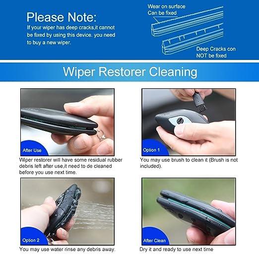 Parabrisas Limpiaparabrisas Reparación Herramienta, herramientas de reparación de coche parabrisas de goma limpiaparabrisas, restaurador de escobilla para ...