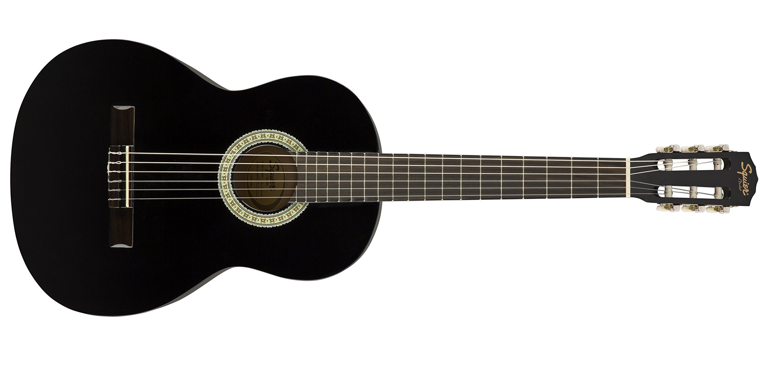 Squier SA-150N Squier Beginner Nylon String Classical Acoustic Guitar - Gloss Black Finish (Amazon Exclusive)