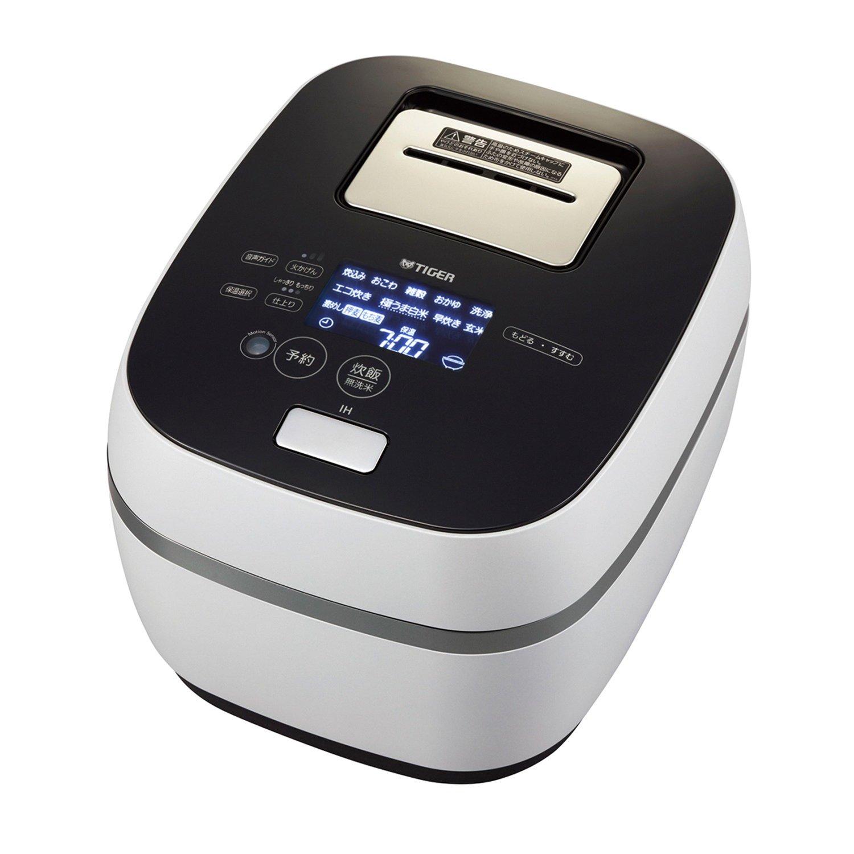 タイガー 土鍋圧力IHジャー炊飯器(3.5合炊き) フロストホワイトTIGER THE炊きたて GRAND X(グランエックス)シリーズ JPX-062X-WF   B01GJ4UECO