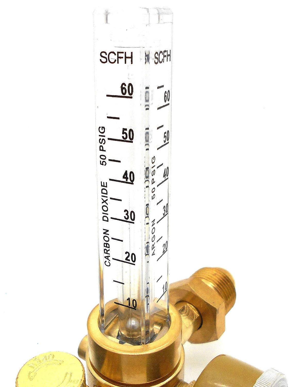 KaleidoScope Argon CO2 Mig Tig Flow meter Regulator w//Hose 4 Gas Welding Weld Machine
