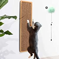 Odoland Cat Scratching Post for Floor or Wall Mounted Use for Saving Space, Natural Durable Sisal Board Scratcher for…