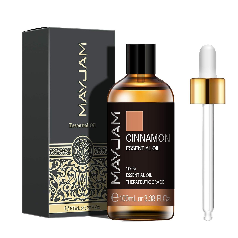 MAYJAM Cinnamon Essential Oil 100ML/3.38FL.OZ, 100% Pure Aromatherapy Oil Premium Quality Essential Oils for Diffuser/Humidifier