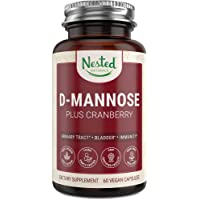 D-Mannose 500 mg Supplement with Cranberry Extract | Natural Fast Treatment for...