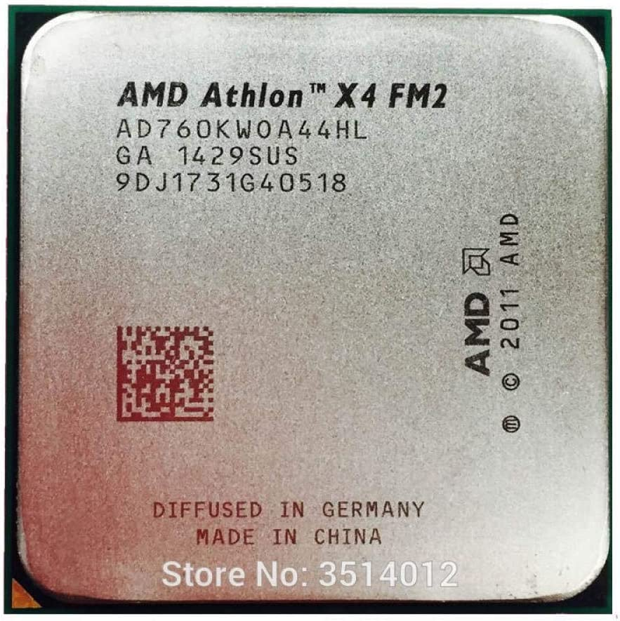 AMD Athlon X4 760K 760 K 3.8G Quad-Core CPU Processor AD760KWOA44HL Socket FM2