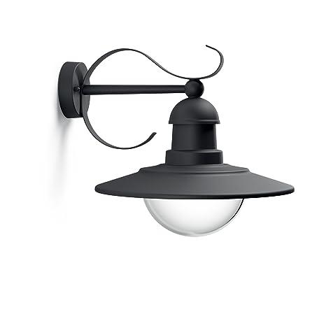 Plafoniere Esterno Illuminazione.Philips 0181630pn Lighting Wall Light Topiary Lampada Da Parete Plafoniera Illuminazione Giardino Ambienti Esterni Design Vintage Black Edition