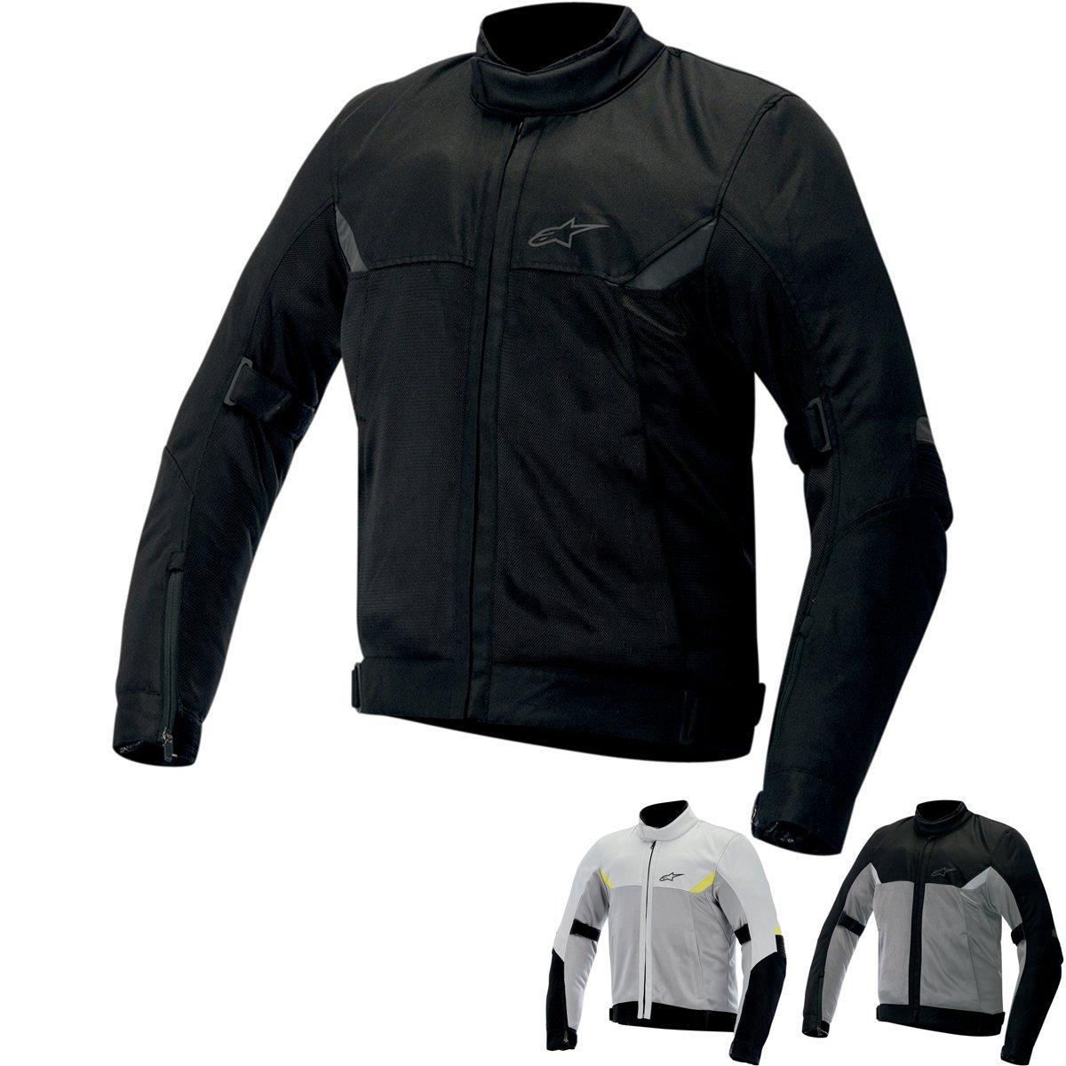 Alpinestars Quasar Mens Textile Jacket Gray//Black//Fluorescent Yellow, Small