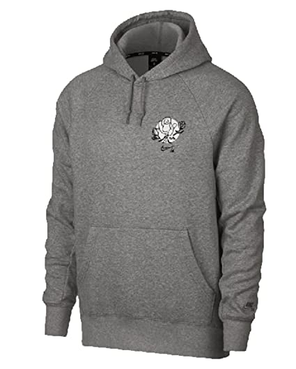 Nike M NK SB Hoodie Icon PO Floral - Sudadera, Hombre, Gris(DK