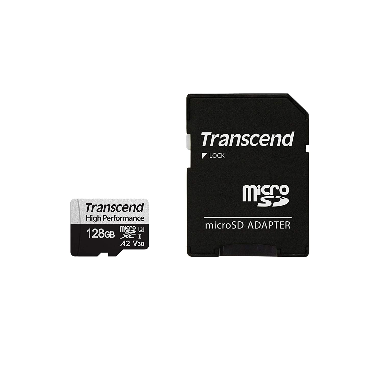 Amazon com: Transcend TS128GUSD330S 128 GB UHS-I U3 Micro SD