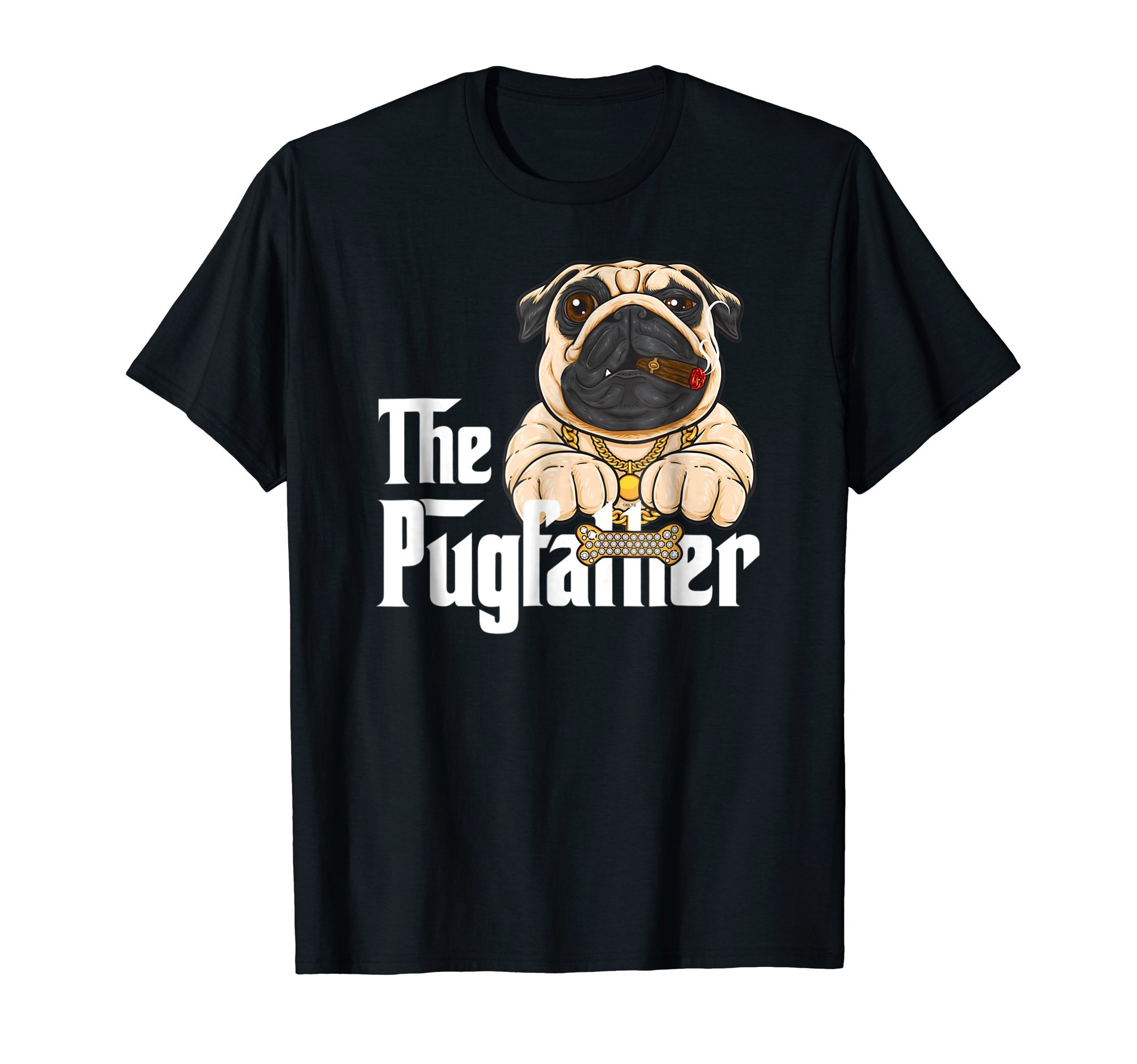 The-Pugfather-Gansta-Funny-Humor-T-Shirt-Shirt-Tee-Gift