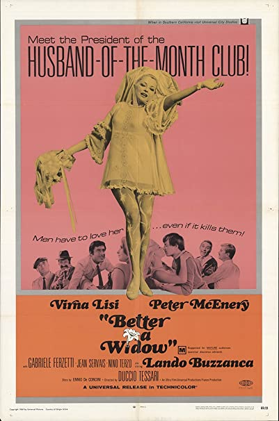 "Better A Widow 1969 Authentic 27"" X 41"" Original Movie Poster Very Fine Virna Lisi Comedy U.S. One Sheet by Amazon"