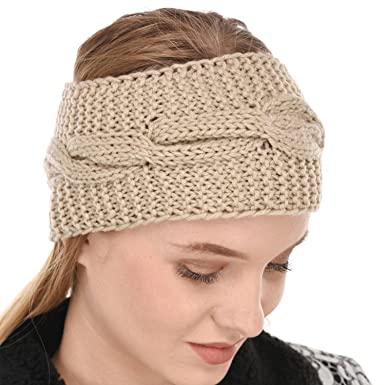 Falcon18 Women Winter Woolen Headband Ear-Warmer Earmuff  9acc1841ec8